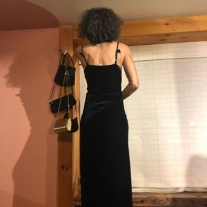 Black velvety dress
